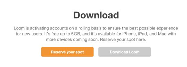 reserve loo applicazione iphone 620x225 Loom, un innovativo servizio di archiviazione On the Cloud per Video e Foto