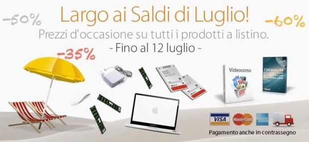 saldi 2013luglio 620x285 Saldi BuyDifferent, sconti fino al 60%: upgrade RAM da 64,90 euro, nuovi SSD e ritorno dei Mac potenziati