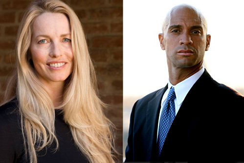 Laurene Powell Jobs e Adrian Fenty