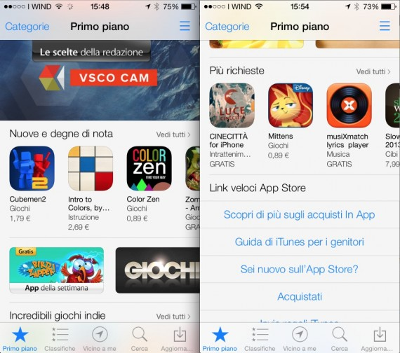 AppStore in iOS 7 Benvenuto iOS7: Ecco tutte le novità e i link per il download diretto!