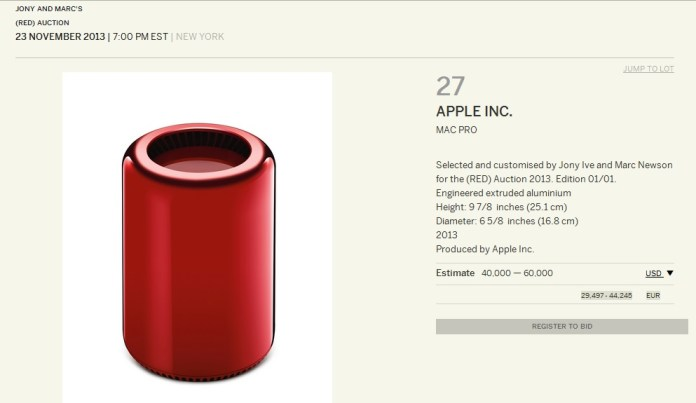 Mac Pro in edizione limitata per Product (RED)