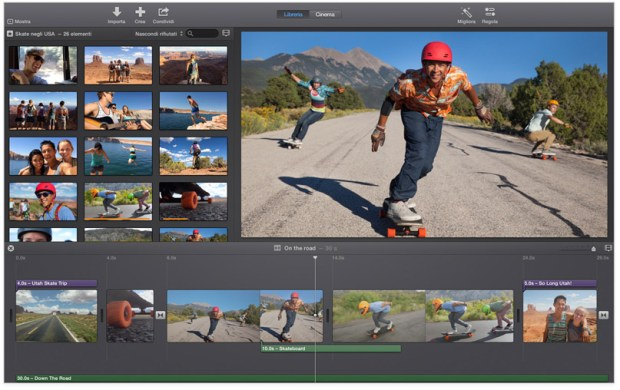 imovie screen 620x390 Maveriks, iWork e iLife: Disponibili gratuitamente