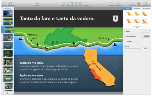 keynote screen 1 620x390 Maveriks, iWork e iLife: Disponibili gratuitamente