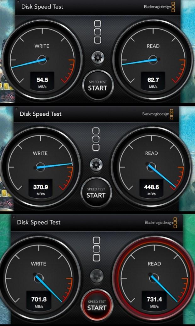 Disk Speed Test MacBook Pro 620x1037 Il nuovo MacBook Pro: un concentrato di potenza a un prezzo interessante