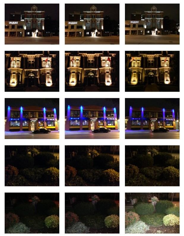 Scatti notturni con i diversi iPhone