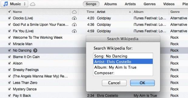 Search Wikipedia 620x324 8 utili trucchi e funzioni nascoste in iTunes