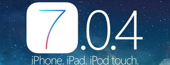 iOS 7.0.4 per iPhone iPad e iPod Touch