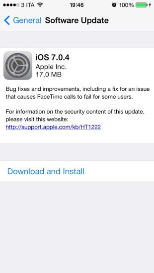 iOS Update 620x1100 Rilasciato iOS 7.0.4 per iPhone, iPad e iPod Touch