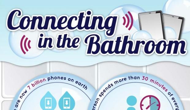 smartphone in bagno Ecco cosa fa il 75% delle persone che va in bagno con il proprio smartphone