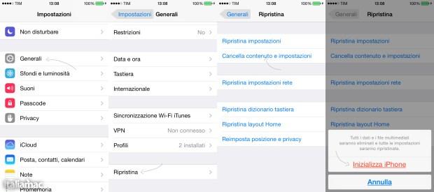 Inizializza iPhone 620x275 Guida: Jailbreak di iOS 7 con Evasi0n 7