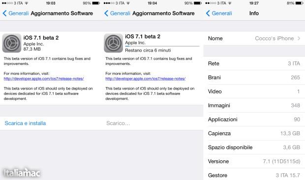 Uptate OTA 7.1 Beta 2 620x366 iOS 7.1 Beta 2 Finalmente disponibile