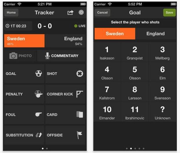 GoalShouter screenshot 620x525 GoalShouter, fai la diretta web di qualsiasi partita di calcio