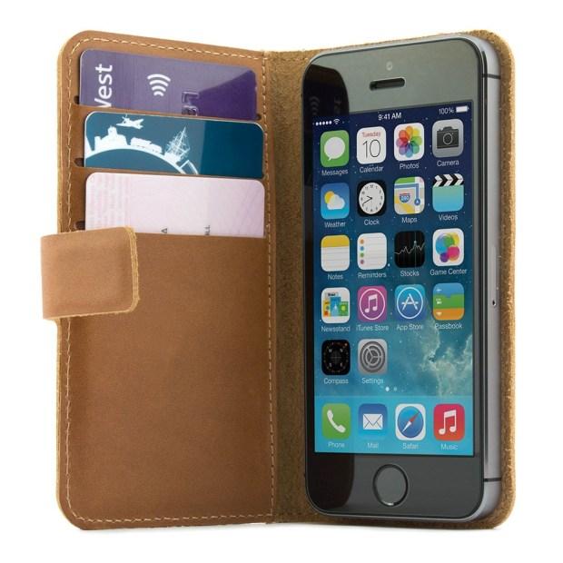 19075 proporta distressed leather case brown apple iphone 5s 08 1 620x620 Protava la Custodia Portafoglio in Pelle Vintage di Proporta