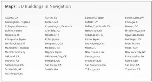 3dflyover Apple: Stonehenge nelle Mappe in modalità FlyOver
