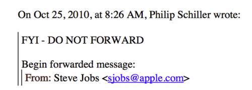 Schermata 2014 04 05 alle 16.00.36 620x228 Steve Jobs: Una Mail per salvaguardare il futuro di Apple