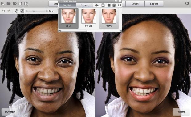 Skin Foundation De oil 620x381 FaceFilter 3: utile editor per migliorare le foto dei volti, anche con effetti