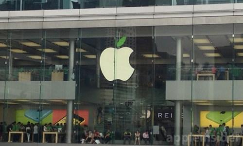logo Apple verde Apple Store: in aggiornamento i loghi per lEarth Day 2014
