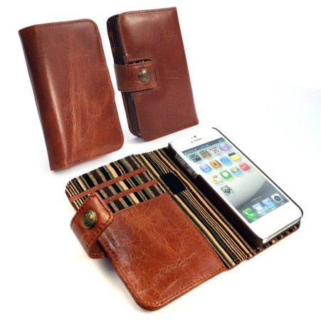 apple iphone 5s wallet case rf blocking alston craig vintage brown leather 1 620x620 I case di Alston Craig , la qualità prima di tutto.