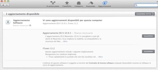 itunesmavericks 620x276 E disponibile un nuovo aggiornamento di iTunes, 11.2