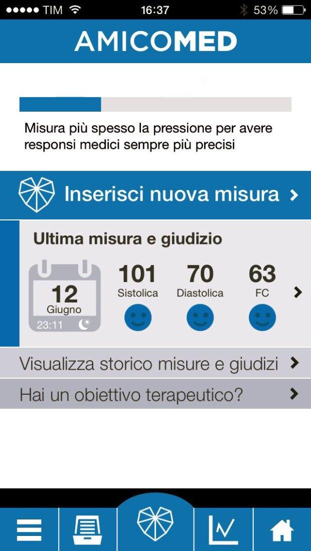 AmicoMed 3 620x1100 AmicoMed Free, app per il monitoraggio della pressione