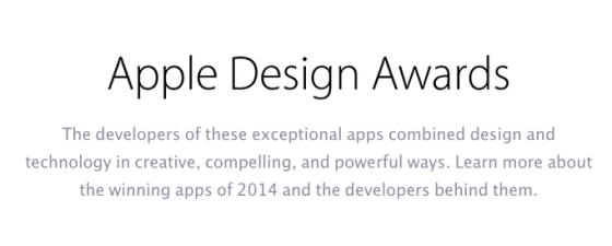 awards2014 620x249 Vengono annunciati i vincitori degli Apple Design Awards in una sessione tenuta nel Moscone Center