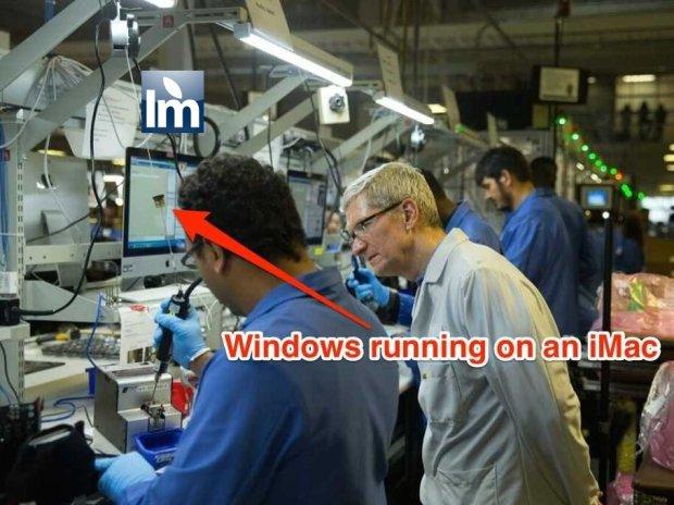macwindows 620x464 Apple usa Windows nella catena di montaggio dei Mac ad Austin in Texas