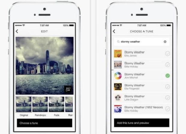 tunepics screenshot 620x447 TunePics: Associa una colonna sonora ai tuoi scatti e condividili sul nuovo social in stile Instagram