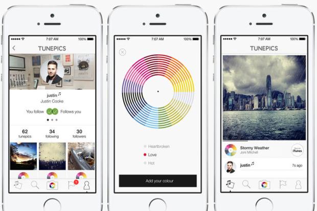 tunepics screenshots TunePics: Associa una colonna sonora ai tuoi scatti e condividili sul nuovo social in stile Instagram