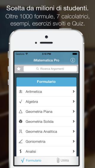 app16 iMatematica Pro, unApplicazione per lo studio della matematica