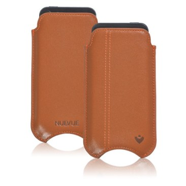 iphone tan leather both large Nuevue, la custodia che protegge e pulisce lPhone