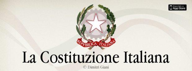 APPCOSTITUZIONE 620x230 Costituzione Italiana Pro è un'applicazione per iPhone, iPad e iPod Touch che permette la lettura della Costituzione Italiana