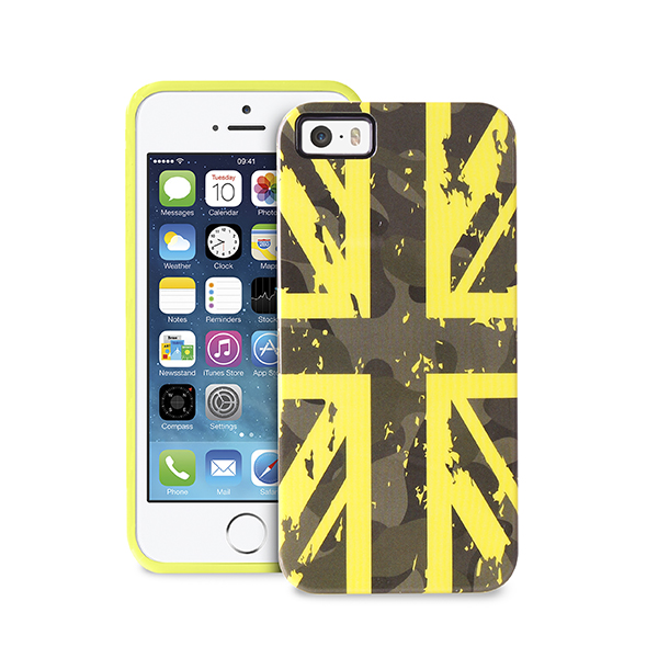IPC5CAMOUFLAGUK Puro: Cover Camou Flag per iPhone 5/5s vedono protagoniste le bandiere UK e USA