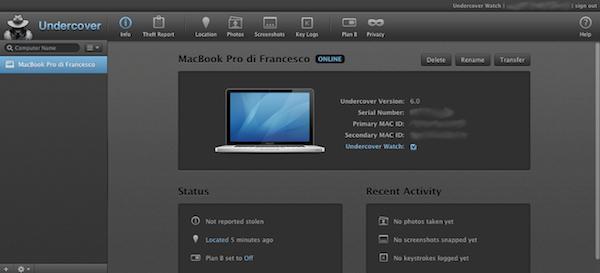 Schermata 2014 08 10 alle 16.38.47 Orbicule Undercover 6: lantifurto per Mac che aiuta a trovare il ladro