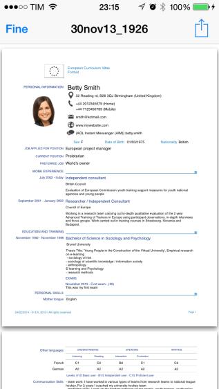 appicv5 620x1100 iCV è unApp che ti permette di creare in modo semplice e intuitivo il tuo curriculum in Formato Europeo
