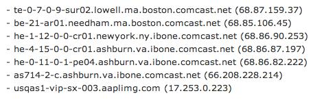 apple cdn traceroute Apple acquisisce una nuova rete di server CDN per migliorare la velocità in download degli update