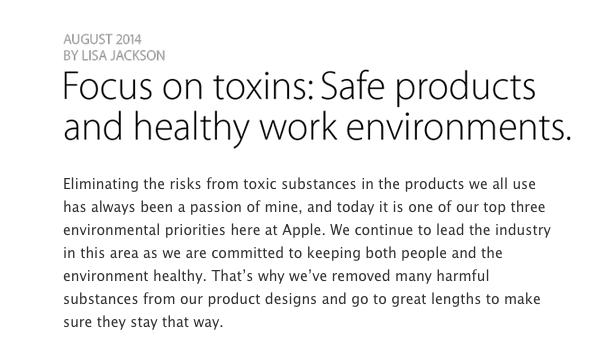 applebenzene Apple vieta l'utilizzo di alcune sostanze chimiche durante l'assemblaggio degli iPhone