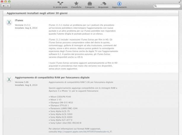 appleitunes Apple ha aggiornato iTunes e il supporto per le fotocamere RAW su OS X