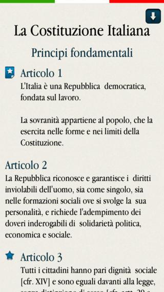 costituzione app Costituzione Italiana Pro è un'applicazione per iPhone, iPad e iPod Touch che permette la lettura della Costituzione Italiana