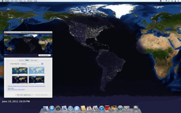 macapp 620x387 Blue Planet unApp per Mac che mostra come sfondo immagini satellitari della Terra seguendo l'orario giornaliero