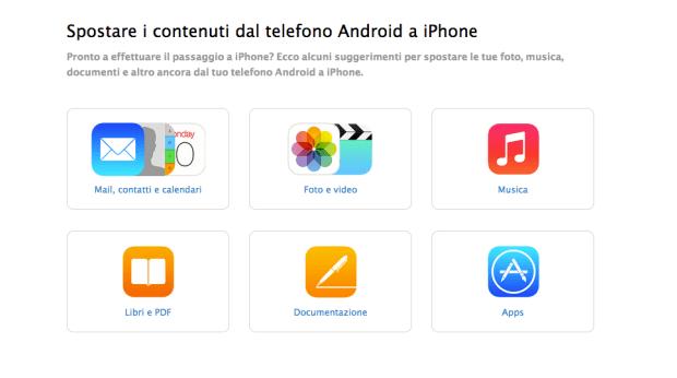 Schermata 2014 09 17 alle 09.50.20 620x346 [Guida] Come passare da Android ad iOS, ci pensa Apple