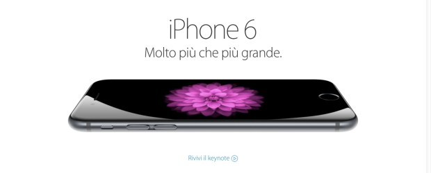 iPhone 6 620x250 iPhone 6 e 6 Plus sono realtà: in Italia dal 26 settembre