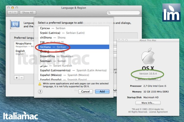 yosemite mavericks napoletano siciliano