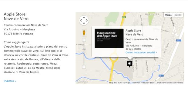 applestoremappa 620x297 Sabato 11 ottobre, aprirà un nuovo Apple Store, Nave de Vero a Marghera, in provincia di Mestre