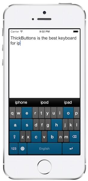 iphone5s silver portrait theme blue ThickButtons: la tastiera per iPhone pensata per chi ha le dita grandi