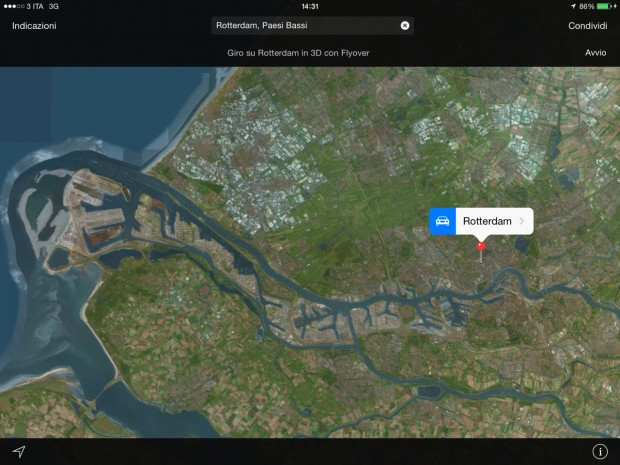 FlyOverApple2 620x465 Apple aggiorna il FlyOver di Mappe con la città di Torino ed altre città europee