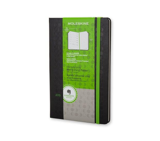 Agenda Evernote 12 mesi - Weekly Notebook - Large - Copertina rigida nera
