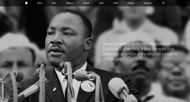 AppleLuterking 620x334 Apple rende omaggio al Martin Luther King Day