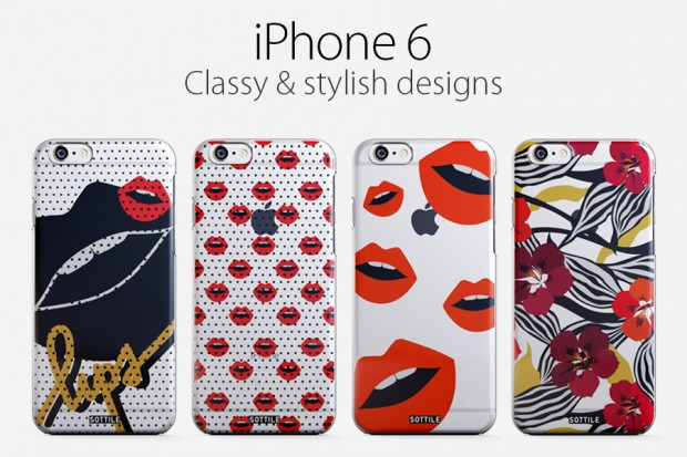 Sottile Design Fall 2104 iPhone 6 Case 620x413 Sottile Design: a collection inspired by Lips and Flowers design for iPhone 6