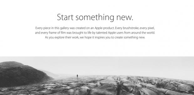 StartsomethingApple 620x305 Apple inaugura una nuova pagina: Start Something New. Quando si inizia con prodotti sorprendenti, è possibile creare cose incredibili!