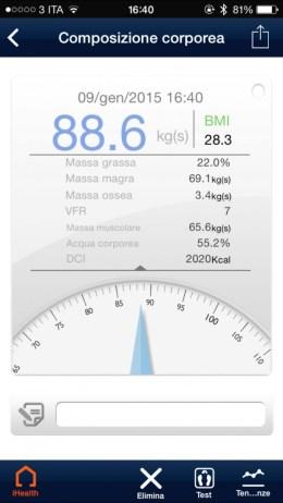 iHealthApp5 620x1102 iHealth Wireless Body Analysis Scale, bilancia smart per tutti